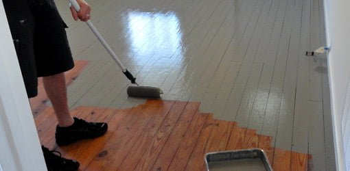 how to paint wood floors today 39 s homeowner. Black Bedroom Furniture Sets. Home Design Ideas
