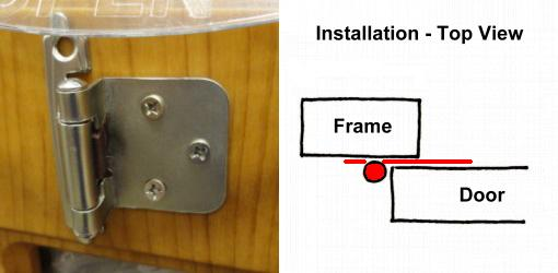 Great Surface Mounted Overlay Hinge.
