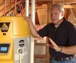 Danny Lipford with energy efficient Vertex hot water heater.