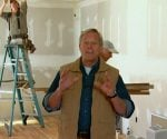 Danny Lipford with painters in Kuppersmith project house.