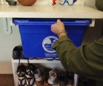 DIY Sliding Recycling Bin Hanger