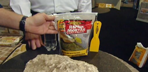 Easy To Use Mortar Repair Mix In A Bag Today S Homeowner