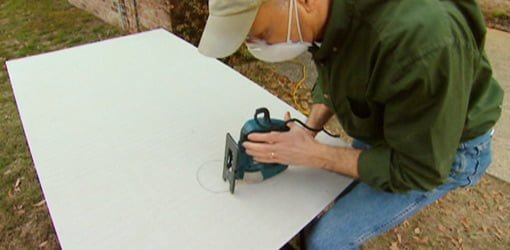 Cutting Holes In Concrete : How to cut holes in cement backer board with a jigsaw