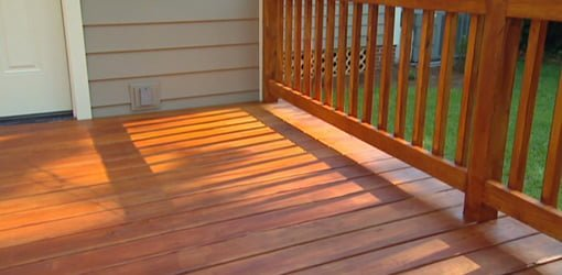 Deck stained with Flood wood stain.