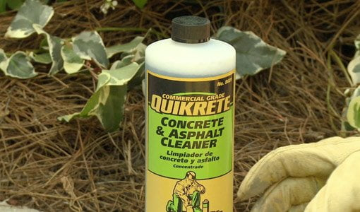 Bottle of QUIKRETE Concrete Cleaner
