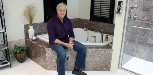 Danny Lipford in remodeled bathroom
