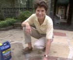 Tricia Craven Worley on stone and brick patio