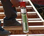 Applying Franklin GREENchoice adhesive to steps
