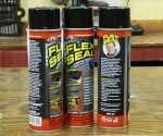 Cans of Flex Seal spray sealant