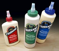 Bottles of Titebond wood glue.
