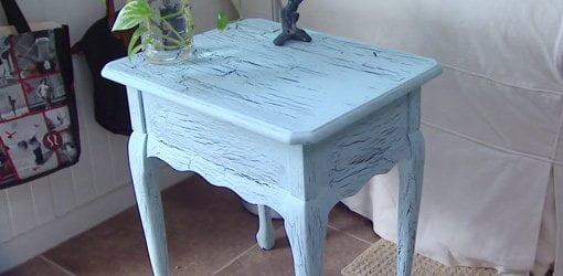Do It How To Give Furniture A Crackle Paint Finish