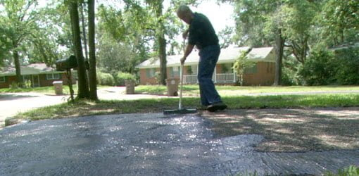 Repairing and sealing an asphalt driveway todays homeowner repairing and sealing an asphalt driveway solutioingenieria Choice Image