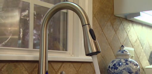 Moen Motionsense Kitchen Faucet In Stainless Steel Finish
