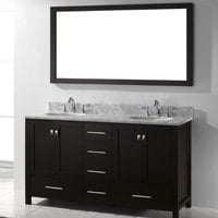 Virtu USA vanity and mirror.