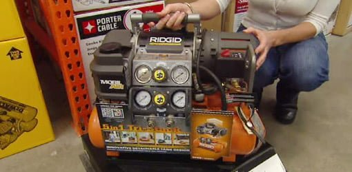 Ridgid Tri-Stack 5-gallon portable air compressor