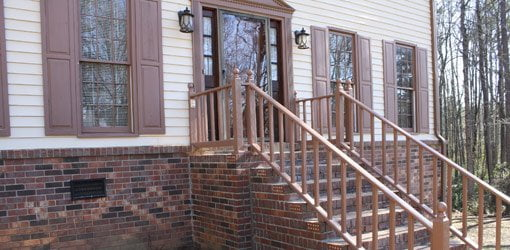 Home Entry Makeover Door And Stair Repair Todays Homeowner