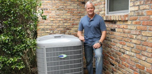 Danny Lipford with Carrier Infinity heat pump.