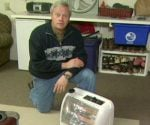 Danny Lipford with space heater.