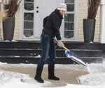 Shoveling snow is great exercise.