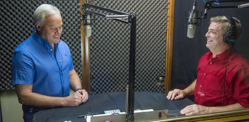 Danny Lipford and Allen Lyle recording the Today's Homeowner Radio Show.