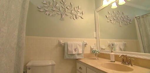 bathroom after budget makeover - Bathroom Makeover