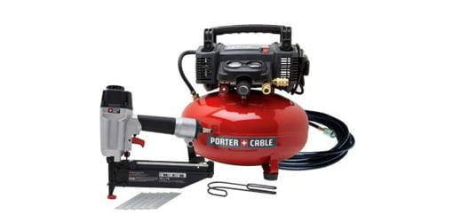 Porter-Cable Air Compressor and Nailer Combo Kit.