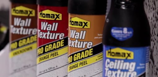 Homax wall and ceiling spray texture in a can.