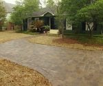 Completed paver driveway.