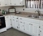 Kitchen after inexpensive makeover.