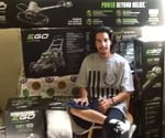 Winner Mark Terrazas with EGO tools.