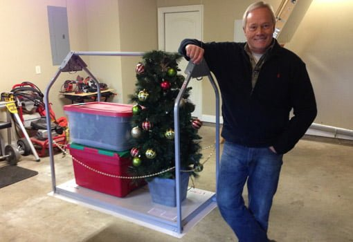 Danny Lipford with Versa Lift motorized attic storage system.