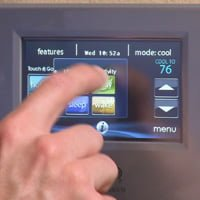 Setting Carrier Infinity Touch thermostat.