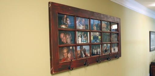 DIY Wall Mounted French Door Photo Gallery And Coat Rack.