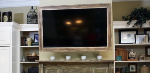 How To Build A Custom Tv Picture Frame Today S Homeowner