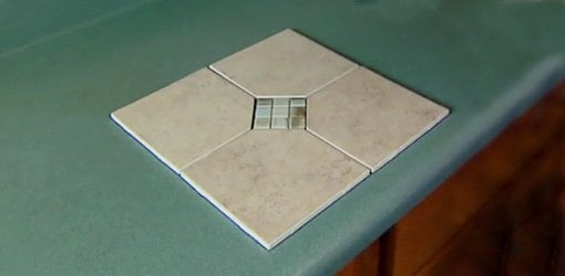 Tile For Backsplash With DIY Mosaic Glass Tile Insert.