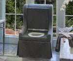 Upholstered chair toilet from ToileChic.