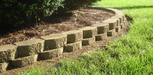 Block Retaining Walls Can Help Hold Mulch In Place