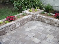 Paver planter boxes.