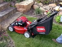 Toro Recycler AWD lawn mower.