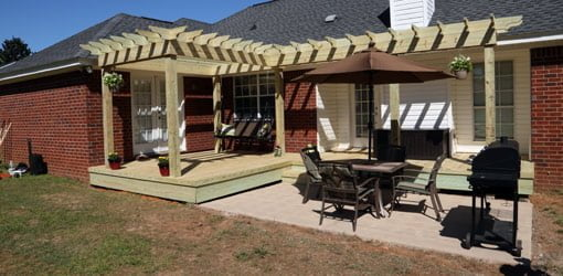 Repairing a Wood Deck and Building a Pergola Shade Arbor – Arbor Patio Cover Plans