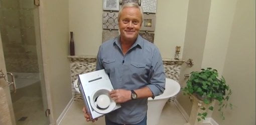 Danny Lipford with Broan recessed light vent fan.