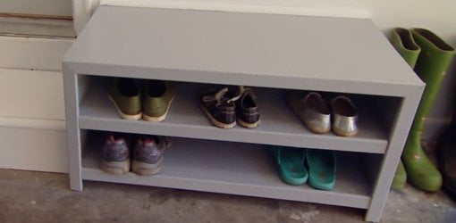 Genial DIY Drop Zone Shoe Cabinet.