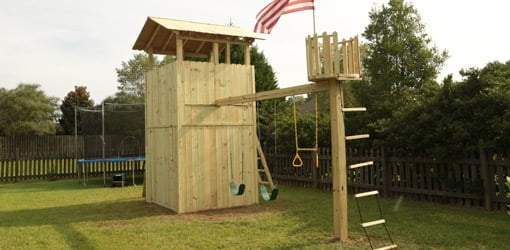 How To Build An Outdoor Wood Playset Today S Homeowner