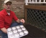 Joe Truini shows how to use a muffin tin in the garden.