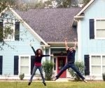 Carissa Scarpa and her fiance, Matthew, in front of their new home.