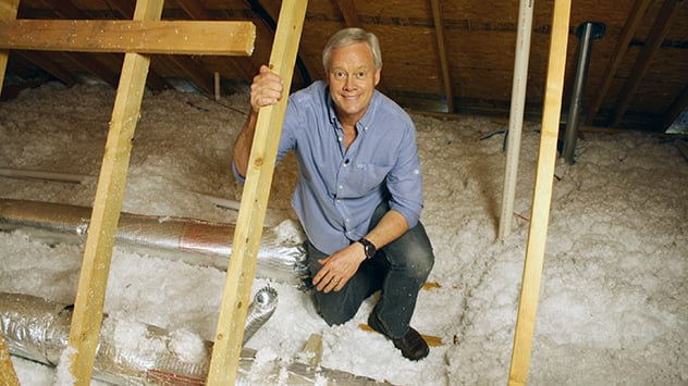 Danny Lipford with attic insulation