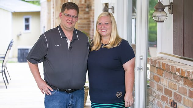 Homeowners Robert and Leigh Bailey