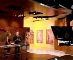"Danny Lipford on the set with ""America's Morning Headquarters"" host Stephanie Abrams."