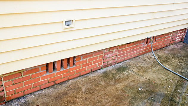 New brick foundation vents