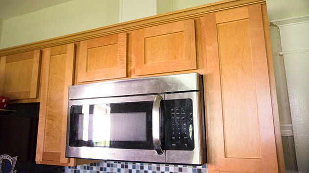 Venting an over-the-range microwave
